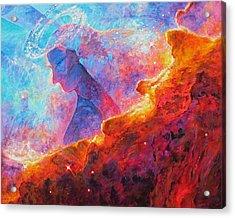 Star Dust Angel Acrylic Print by Julie Turner