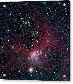 Star-forming Region Acrylic Print by Nasa/jpl-caltech/university Of Wisconsin