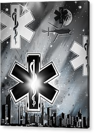 Star Of Life Night Acrylic Print by Melissa Smith