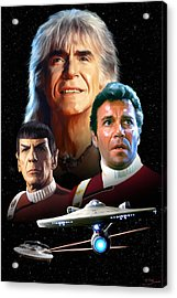 Star Trek II - The Wrath Of Khan Acrylic Print by Paul Tagliamonte