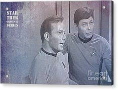 Star Trek Kirk And Mccoy Acrylic Print by Pablo Franchi