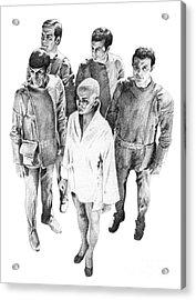 Star Trek - Meeting With V'ger Acrylic Print by Liz Molnar