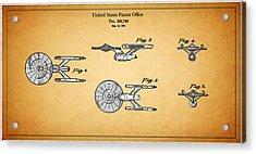 Star Trek - Spaceship Patent 1981 Acrylic Print by Mark Rogan