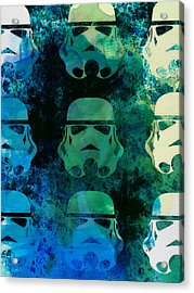 Star Warriors Watercolor 1 Acrylic Print by Naxart Studio