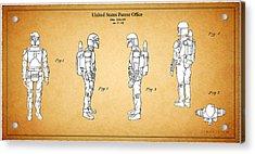 Star Wars - Boba Fett Patent Acrylic Print by Mark Rogan