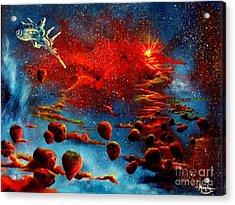 Starberry Nova Alien Excape Acrylic Print by Murphy Elliott