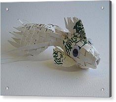 Starbucks Gold Fish Acrylic Print by Alfred Ng