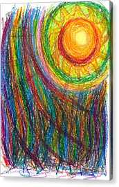 Starburst - The Nebular Dawning Of A New Myth And A New Age Acrylic Print by Daina White