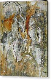 Stare Acrylic Print by Floria Varnoos