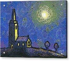 Starry Church Acrylic Print by Pixel Chimp