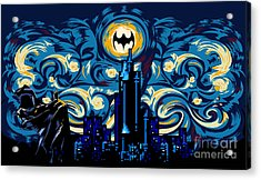 Starry Knight Acrylic Print by Three Second