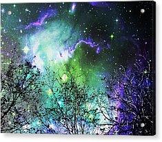 Starry Night Acrylic Print by Anastasiya Malakhova