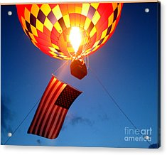 Stars And Stripes Glow Acrylic Print by Paul Anderson
