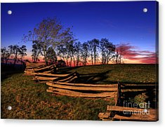 Stars At Sunrise On The Blue Ridge Acrylic Print by Dan Carmichael