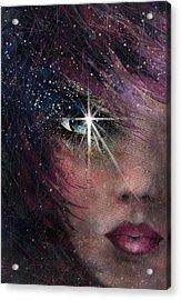 Stars In Her Eyes Acrylic Print by Rachel Christine Nowicki