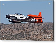 Starter Plane- T33 Acrylic Print by Steve Rowland