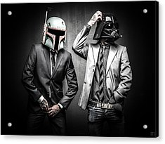 Starwars Suitup Acrylic Print by Marino Flovent