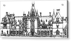 Stately Home In Ink Acrylic Print by Adendorff Design