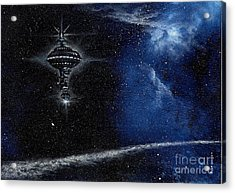 Station In The Stars Acrylic Print by Murphy Elliott