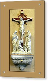 Station Of The Cross 12 Acrylic Print by Thomas Woolworth
