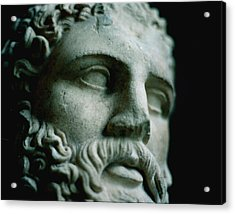 Statue Face Acrylic Print by Marcio Faustino