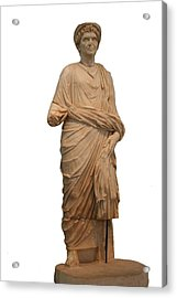 Statue Of A Roman Priest Wearing A Toga Acrylic Print by Tracey Harrington-Simpson