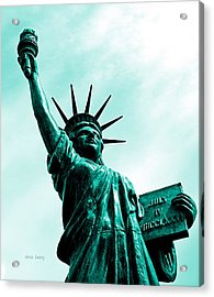 Statue Of Liberty   Acrylic Print by Chris Berry