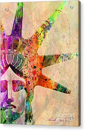Statue Of Liberty  Acrylic Print by Mark Ashkenazi