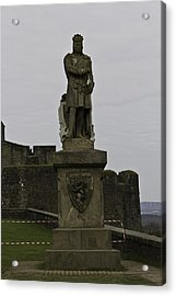 Statue Of Robert The Bruce On The Castle Esplanade At Stirling Castle Acrylic Print by Ashish Agarwal