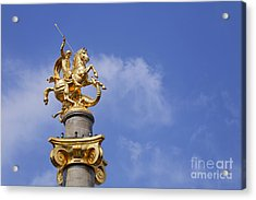 Statue Of St George And The Dragon In Tbilisi Acrylic Print by Robert Preston