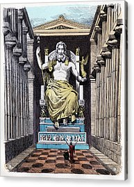 Statue Of Zeus At Olympia Acrylic Print by Cci Archives