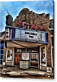Stax Records Acrylic Print by Stephen Stookey