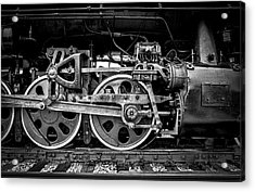 Steam Engine Acrylic Print by Jeff Burton