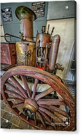 Steam Fire Engine Acrylic Print by Adrian Evans