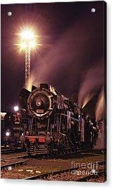 Steam Train In The Night IIi. Acrylic Print by Martin Dzurjanik