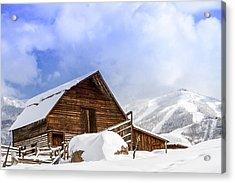 Steamboat Springs Barn And Ski Area Acrylic Print by Teri Virbickis