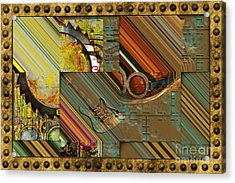 Steampunk Abstract Acrylic Print by Liane Wright