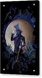 Steampunk Crownman Acrylic Print by Sassan Filsoof