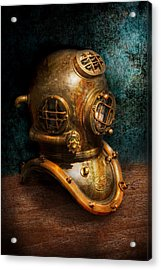 Steampunk - Diving - The Diving Helmet Acrylic Print by Mike Savad