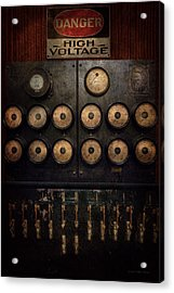 Steampunk - Electrical - Center Of Power Acrylic Print by Mike Savad