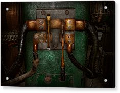 Steampunk - Electrical - Pull The Switch  Acrylic Print by Mike Savad