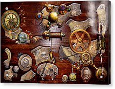 Steampunk - Gears - Reverse Engineering Acrylic Print by Mike Savad