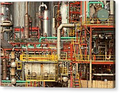 Steampunk - Industrial Illusion Acrylic Print by Mike Savad
