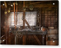 Steampunk - Machinist - My Tinkering Workshop  Acrylic Print by Mike Savad