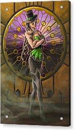 Steampunk Medusa Acrylic Print by Rob Carlos
