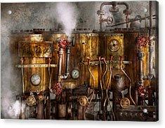 Steampunk - Plumbing - Distilation Apparatus  Acrylic Print by Mike Savad