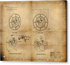 Steampunk Solar Disk Acrylic Print by James Christopher Hill