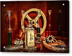 Steampunk - Spare Gears - Mechanical Acrylic Print by Paul Ward