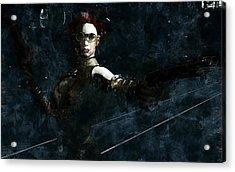 Steampunk Stand-off Acrylic Print by Maynard Ellis