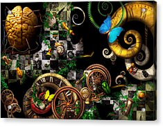 Steampunk - Surreal - Mind Games Acrylic Print by Mike Savad